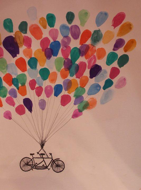 Bicycle and Balloons - Lauren's Art