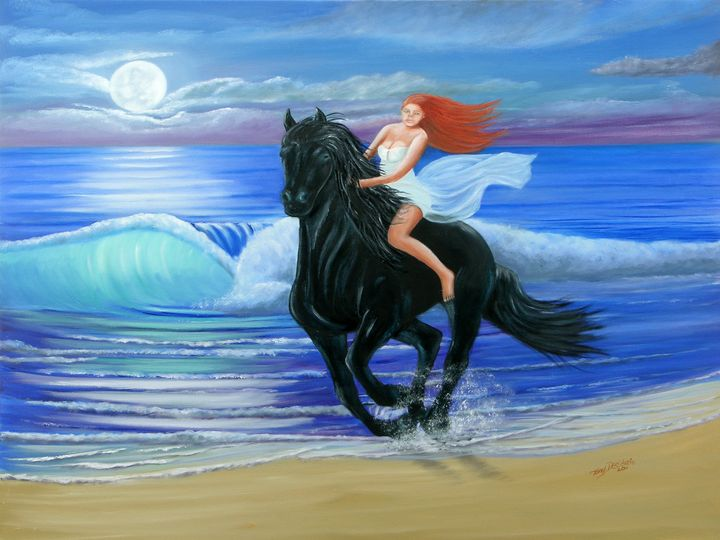 MOONLIGHT RIDE - Lbi Artist Tony Desiderio