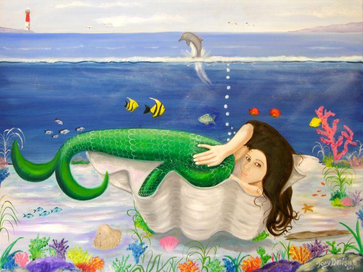 MERMAID IN A SHELL - Lbi Artist Tony Desiderio