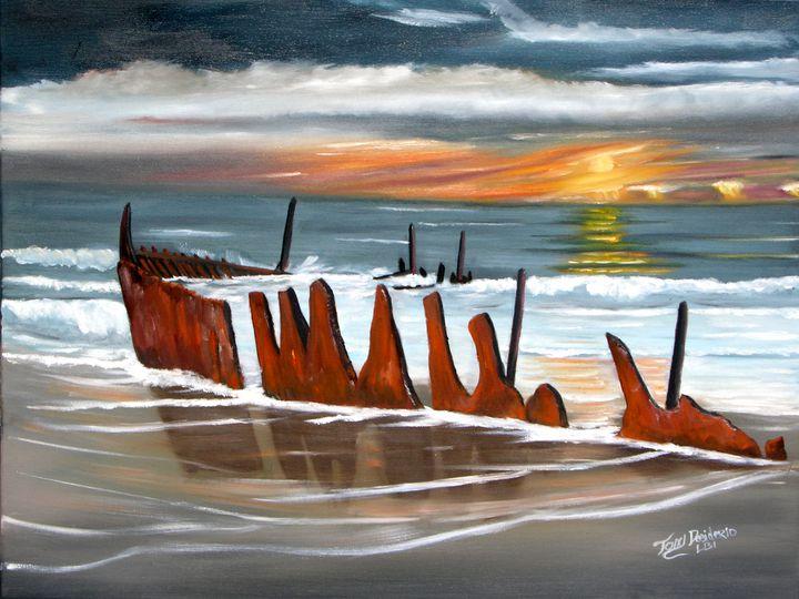 SHIPWRECK ASHORE - Lbi Artist Tony Desiderio