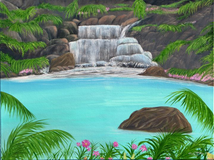 TROPICAL WATERFALL - Lbi Artist Tony Desiderio