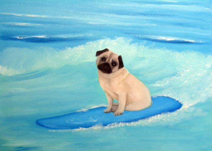 PUG ON THE WAVES'' - Lbi Artist Tony Desiderio