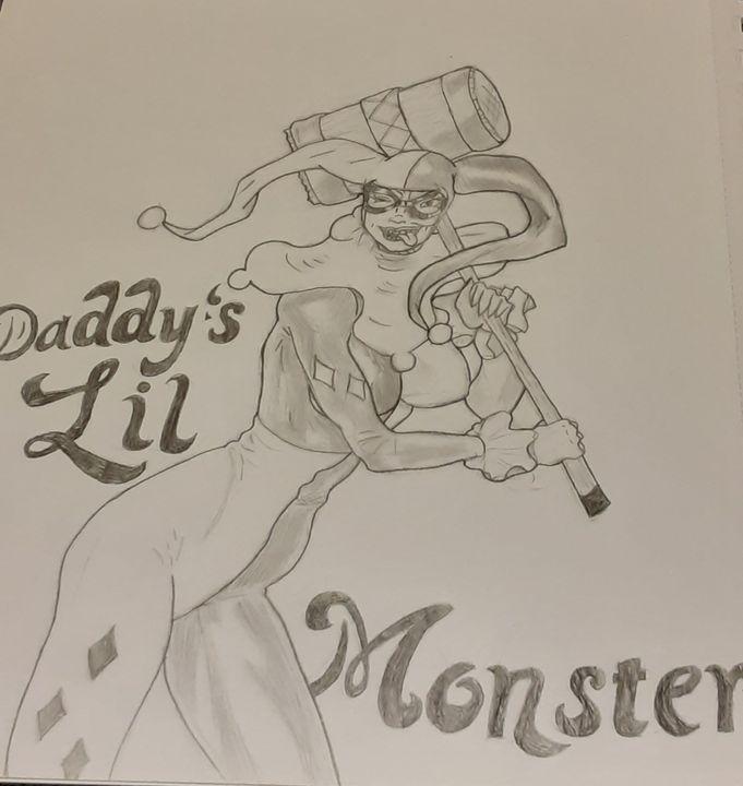 Daddy's Lil Monster - Jojo's art