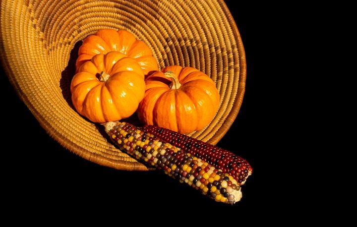 Mini Pumpkins and Indian Corn - helen geld