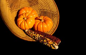 Mini Pumpkins and Indian Corn - helen geld