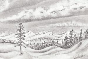 Snowy Mountain Landscape - helen geld
