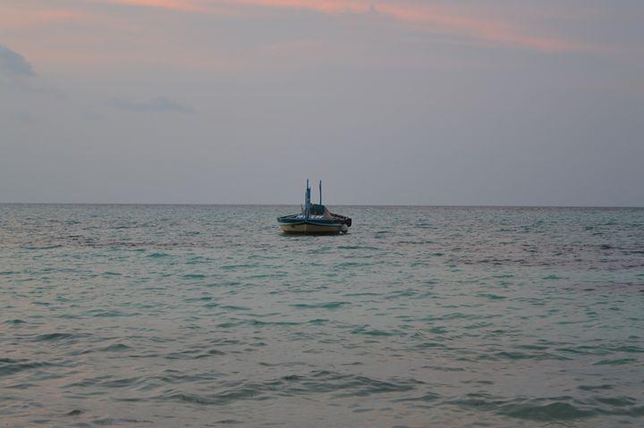 Solitary Boat - Debadrita
