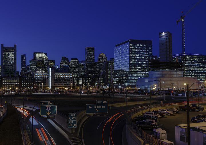 Boston Skyline & Seaport District - M.G. Durant Photography