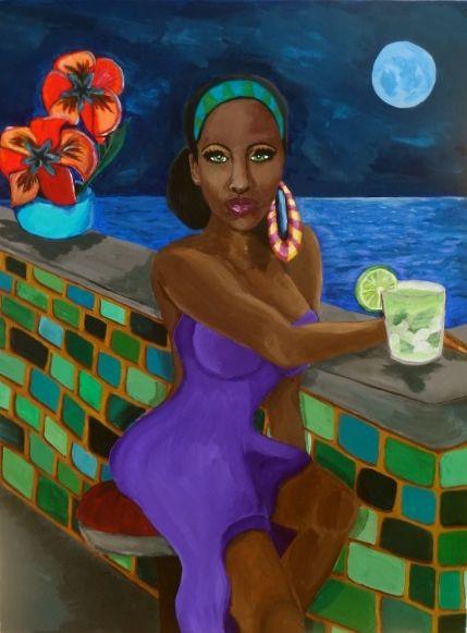 Tropical Nights...Waiting for you. - Kobberholm Art