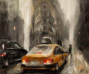 Snowstorm in Manhattan