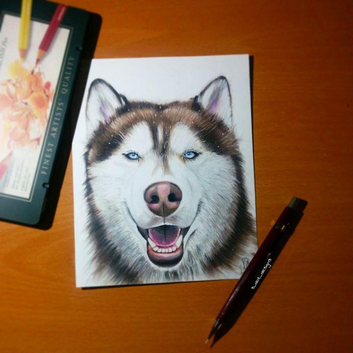"Siberian Husky 6x7"" - S Dot Designs"