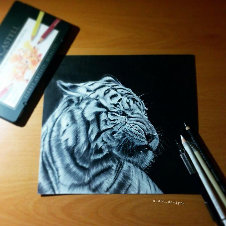 White Tiger - S Dot Designs