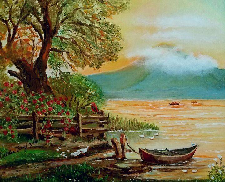 Sunset on the lake - Merchas