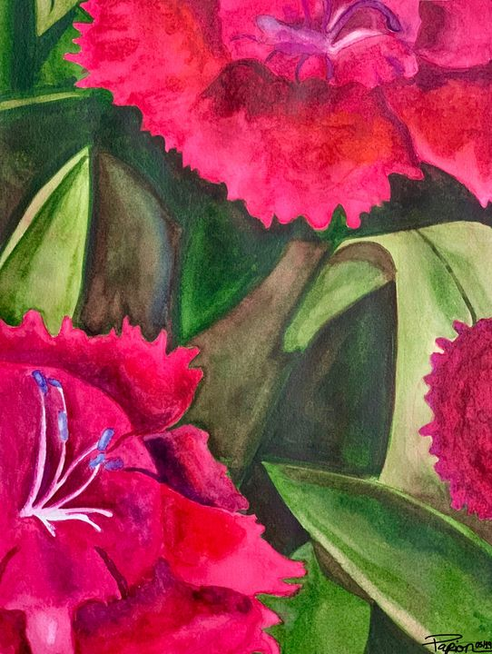Watercolor Flowers - Papion