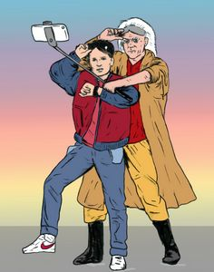 Back to the future selfie