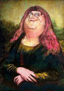 peter griffin as mona lisa