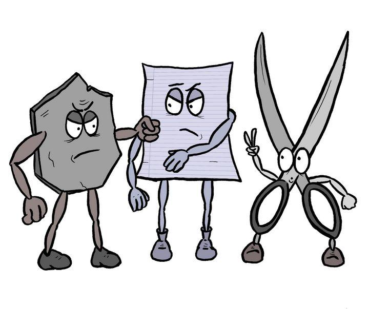rock, paper and scissors - matan kohn art