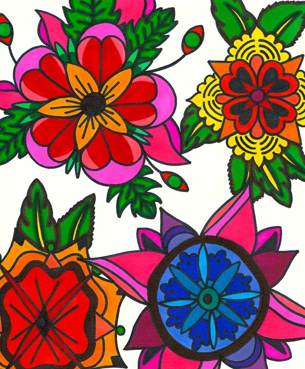 Futuristic Floral - Mary