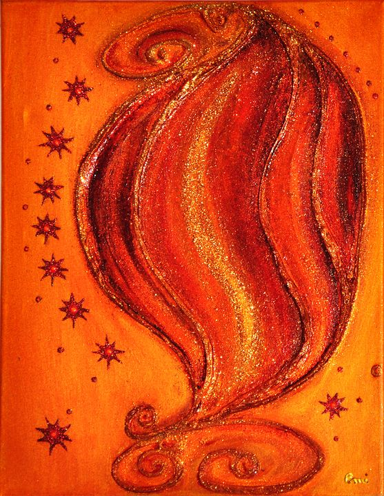 Fire in the heart - Emi Energy Paintings
