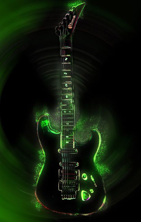 Electric Guitar - Bloodstone Prints