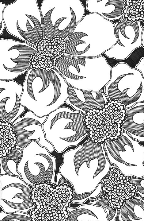 Black and White Poppies - Madelynne Brown Broyles