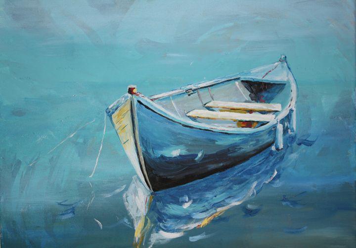 Blue Drift - Hally Shaw Art