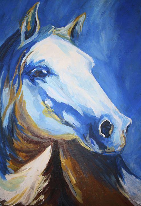 Blue Spirit - Hally Shaw Art