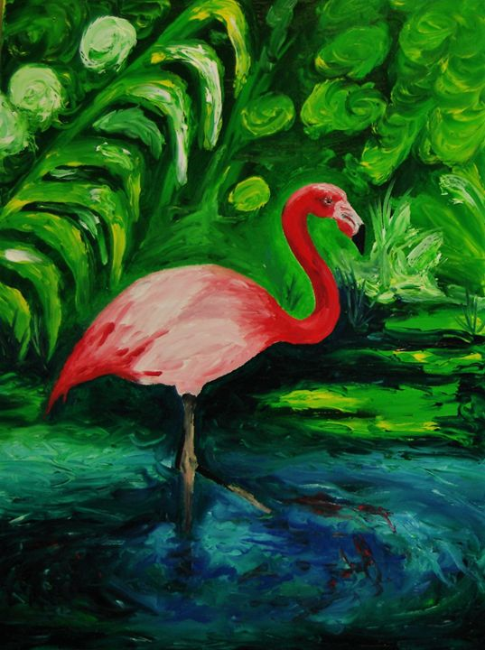 Pink Bird - Hally Shaw Art