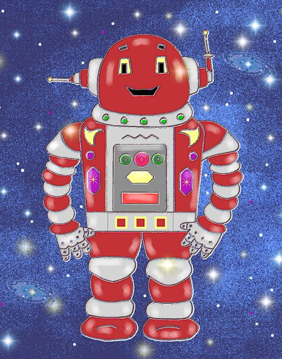 Red Robot - Art by Cheryl Hamilton