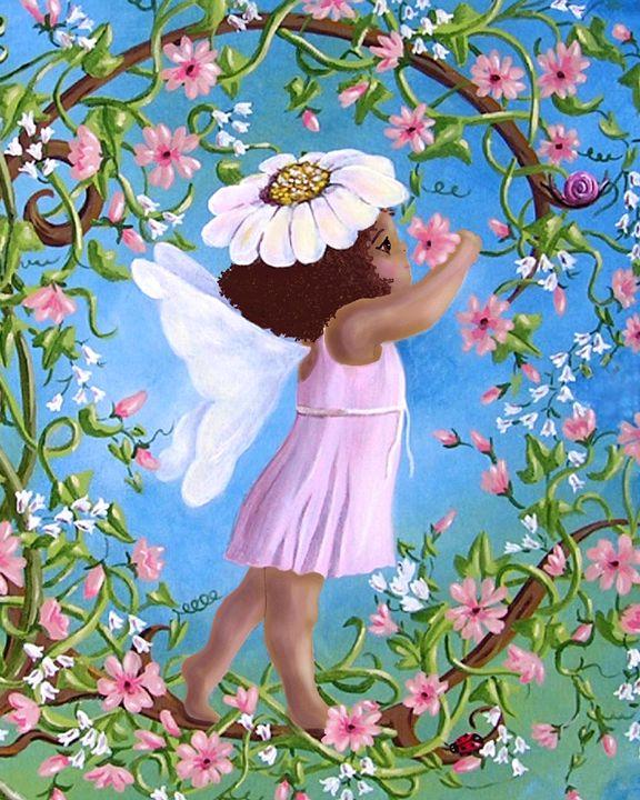 African American fairy - Art by Cheryl Hamilton