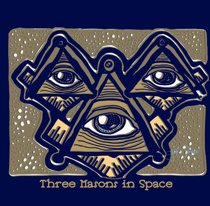 Three Masons in Space - John Snipes