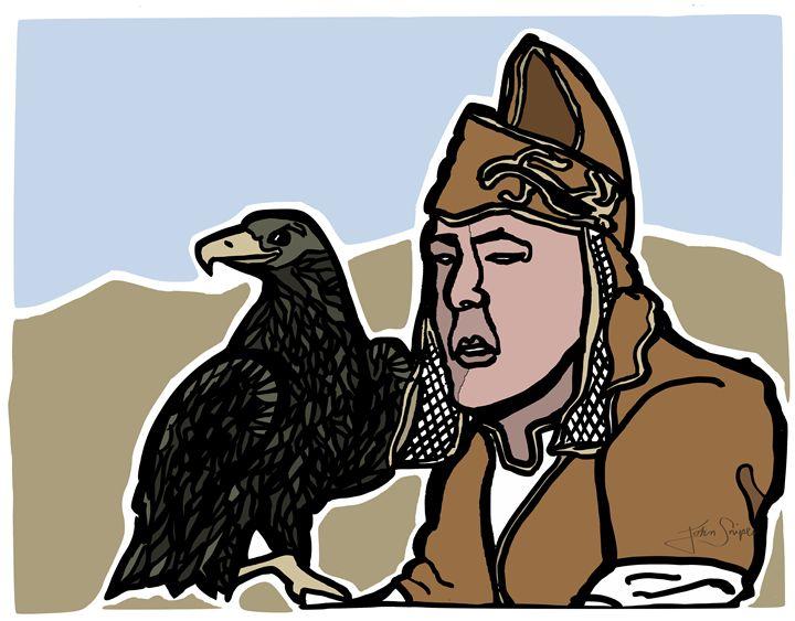 Mongolian Falconer - John Snipes