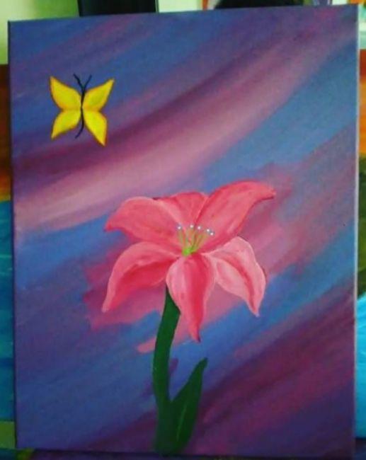 Butterfly& Flower - 1013House_of_Art