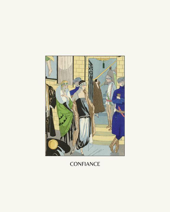 Confiance - Art Deco Print - NOONY