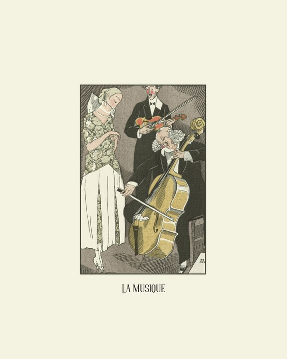 La musique - Historical Art Deco - NOONY
