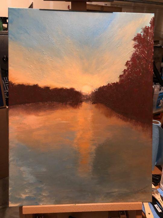 Sunrise on the lake - Fran Staniec