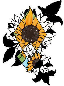 Sunflower Night & Day - DigiArt