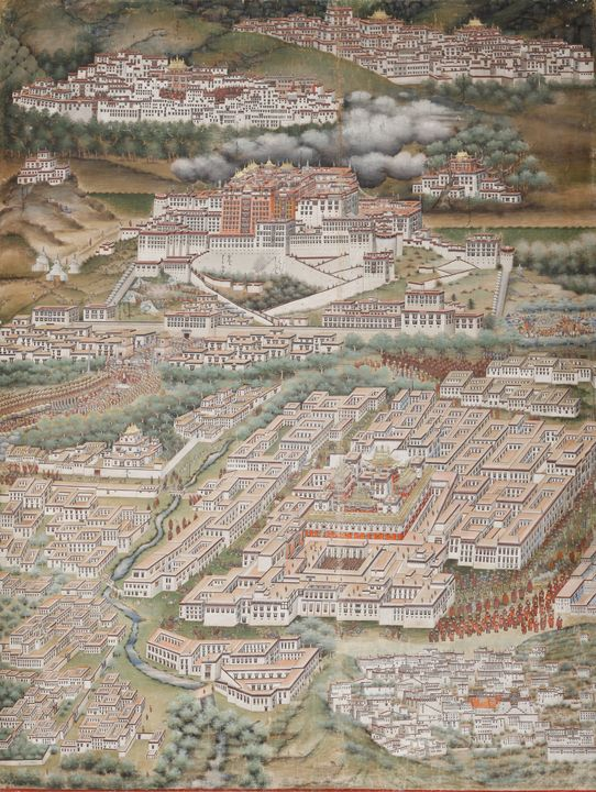City of Heaven Potala 1912 by Sharav - artavenue