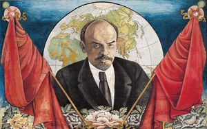 Sharav Balduu - Portrait of Lenin