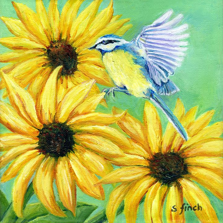 Spirit of Blue Tit - Sonia Finch Art Studio