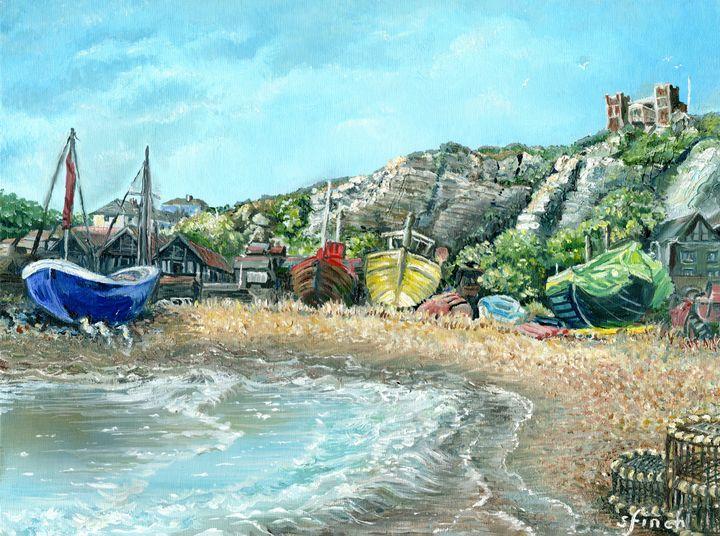Hastings Fishing Boats - Sonia Finch Art Studio