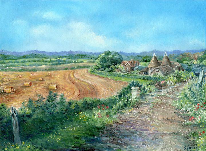 An Oast House Farm in Hayesden - Sonia Finch Art Studio