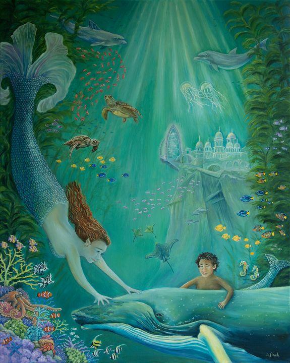 Beyond The Reef To Atlantis - Sonia Finch Art Studio