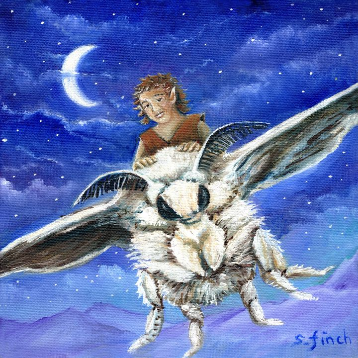 'Elf Moth Rider' by Sonia Finch - Sonia Finch Art Studio