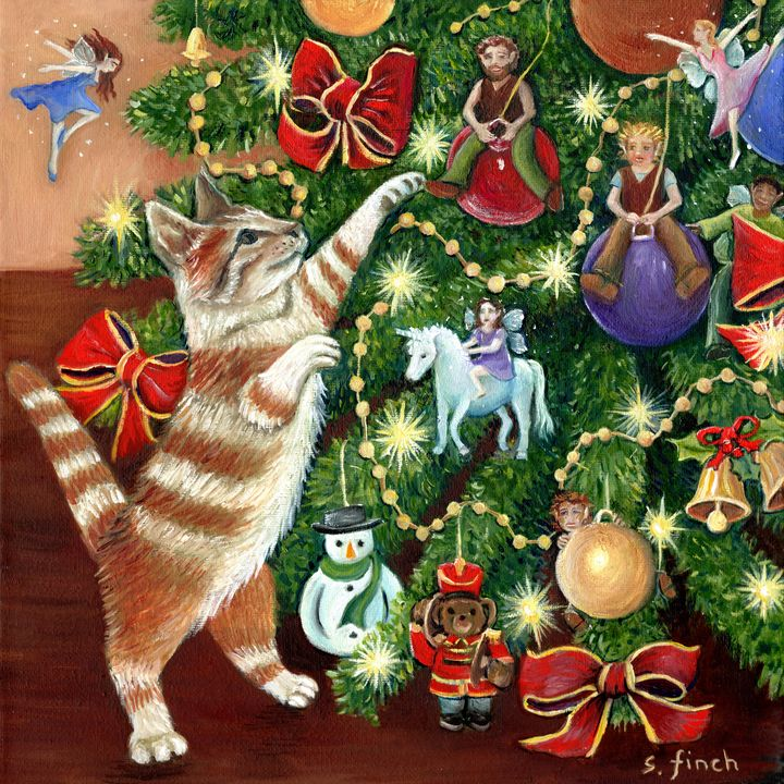 Fairy Tag at Christmas - Sonia Finch Art Studio