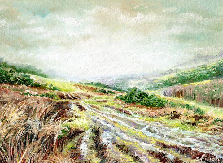 Tranquil Ashdown Forest in Autumn - Sonia Finch Art Studio