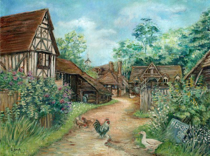 Farmyard, Nr Smarts Hill, Penshurst - Sonia Finch Art Studio