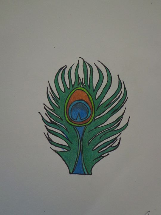 Peacock Feather - Paintings