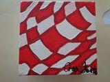 4x4 acrylic painting