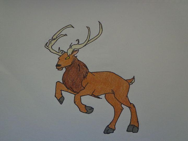 Winter Reindeer - Paintings